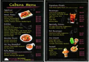 Bay Restaurant Menu Adventure Cove